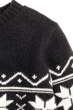 Jacquard-knit jumper - Black - Kids | H&M CN 3